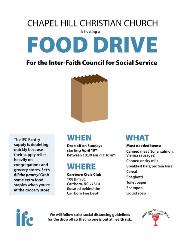Food drive for the IFC Pantry